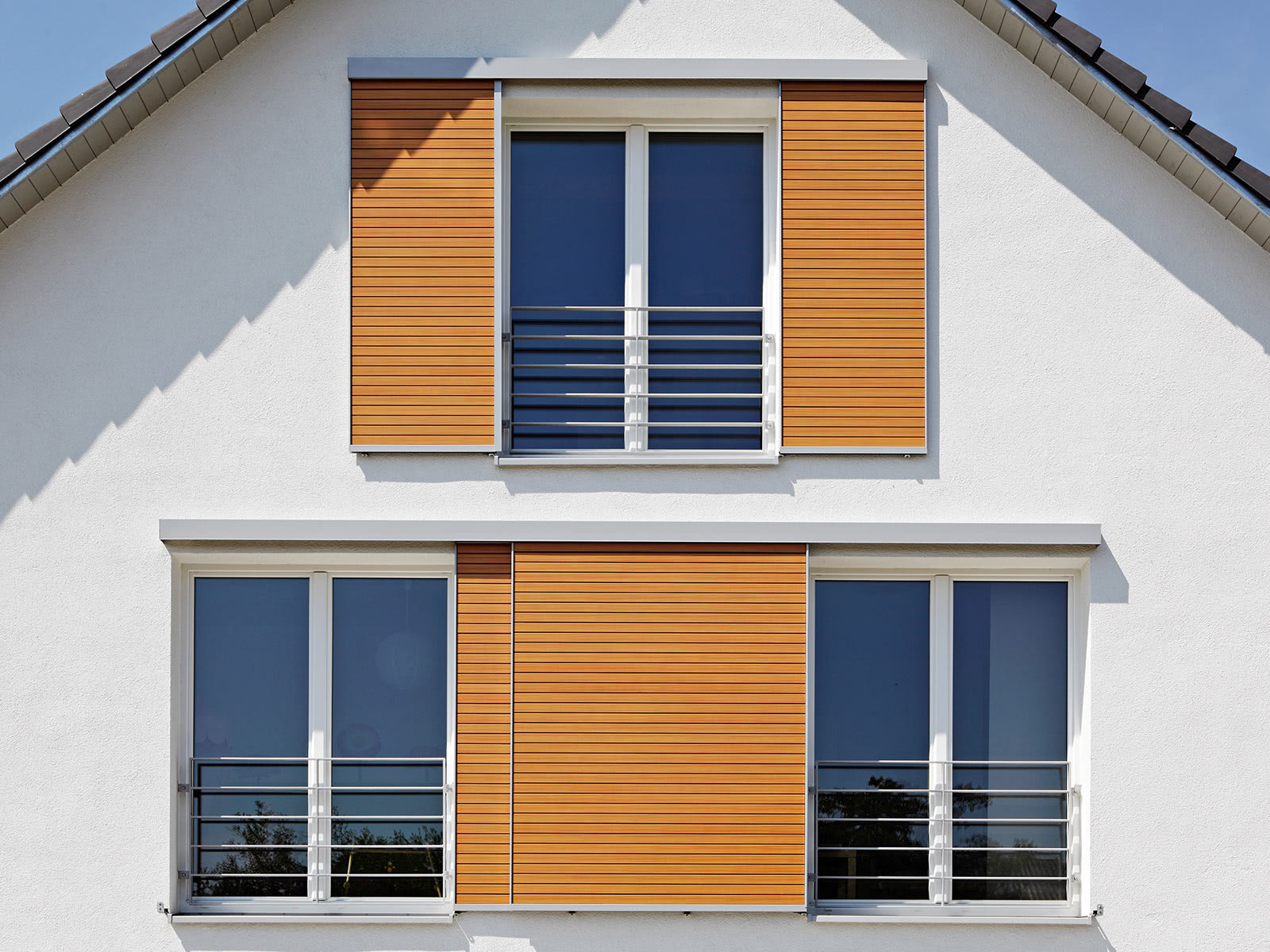 Wood shutters - Wood finish