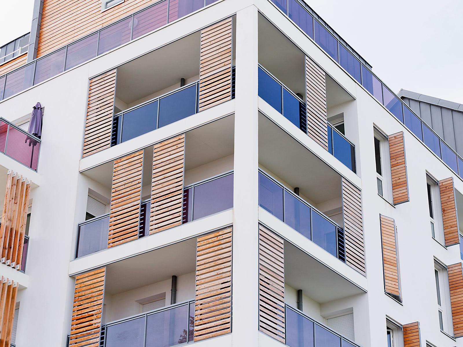 Holz-Fensterläden - Lamellen aus Echtholz
