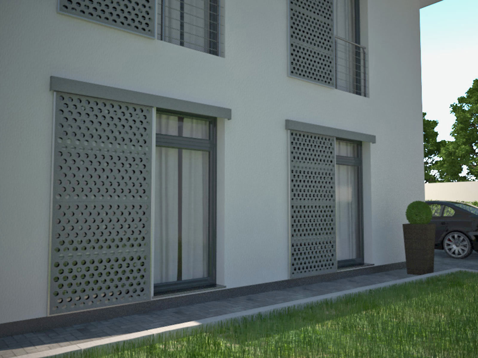 Photovoltaic window shutters - EHRET