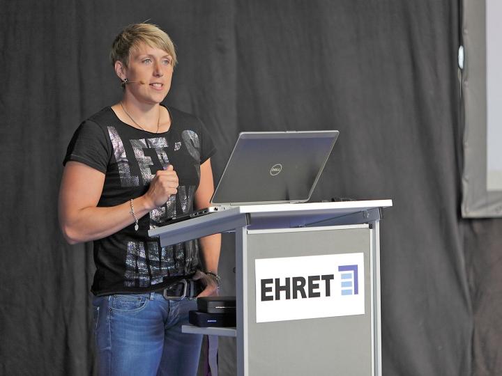 EHRET Kompetenztage mit Spitzensportlerin Christina Obergföll
